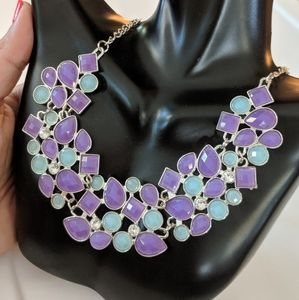 Purple and light blue Necklace